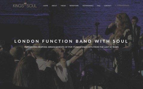 Kings of Soul Responsive Web Design